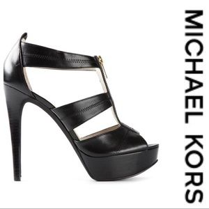 💕SALE💕 Michael Kors Berkley Stilleto Zipup Heels